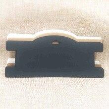 ZerongE ювелирные изделия DIY коричневый/белый/черный чокер карточка для ожерелья 3x7 ''бумага волос зажим/повязка дисплей карты 100 шт в партии