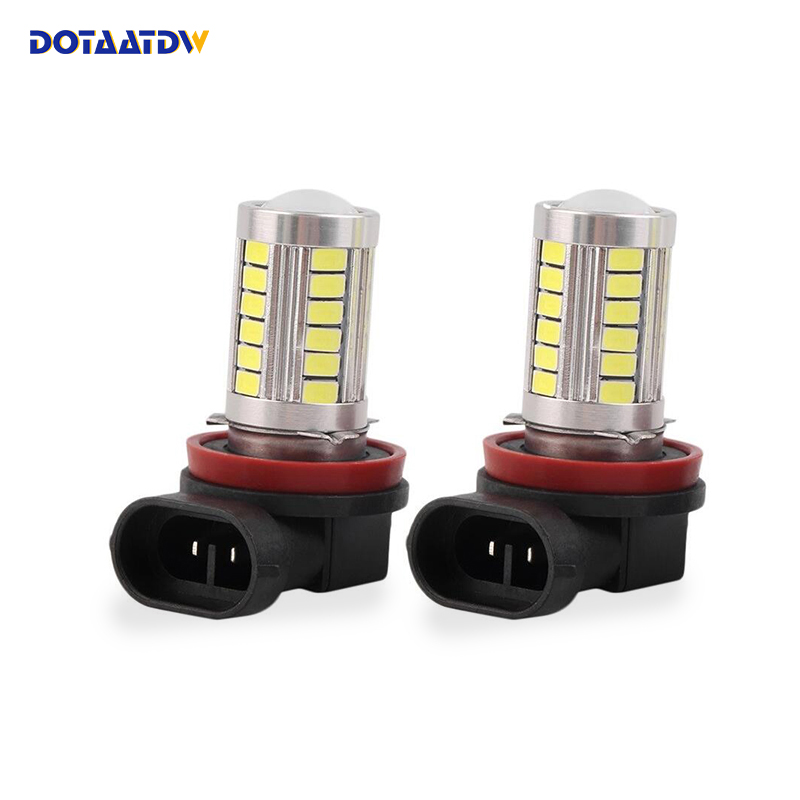 DOTAATDW 2pcs Canbus H11 H8 LED Car Fog Bulbs HB3/9005 9006/HB4 High Power 5630 33SMD Cars Daytime Running Light DRL Lamp 2pcs lot 9006 5730 33smd led fog lights hb4 led bulbs car led daytime lights drl light high bright lamp white free shipping