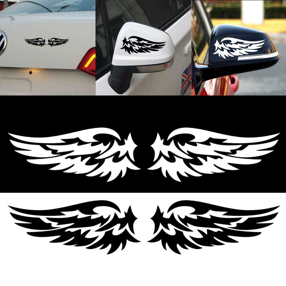 1 Pair Angel Wings Lovely Reflective Car Stickers Fashion Car Rearview Mirror Stickers Car Styling