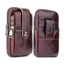 العالمي الهاتف المحمول حقيبة حقيبة لهاتف سامسونج S8 s9 plus نوت 9 8 S7 S6 حزام جلد كليب الحقيبة الحافظة آيفون X/XS/XR/XS ماكس