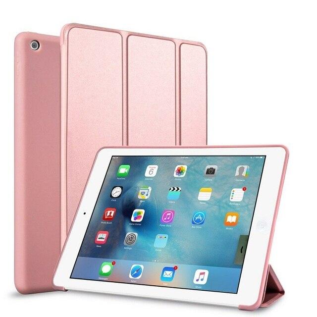 Gấp gọn Máy Tính Bảng dành cho iPad 2018 2017 9.7 iPad Air 1 Không 2 Ốp Lưng Thông Minh Cấp Kiểu Mềm TPU Bao cho Ốp Lưng iPad 2018 Smart Flip