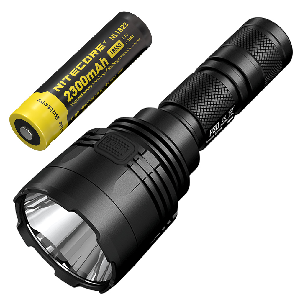 Free Shipping NITECORE 1000 Lumens P30 Hunting Tactical Flashlight +18650 Rechargeable Battery Outdoor Waterproof Portable Torch high power led searchlight lantern built in battery handheld portable flashlight torch rechargeable waterproof hunting lamps