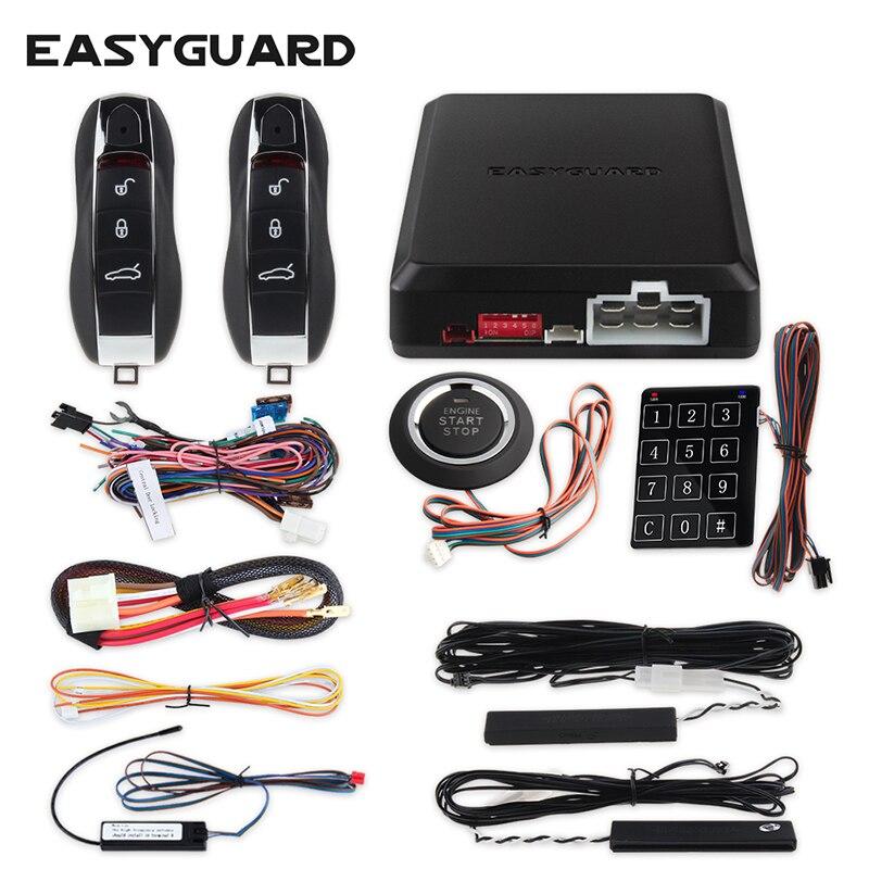 EASYGUARD компания псевдослучайный код Автосигнализация пассивное открывание без ключей дистанционный запуск стартера и