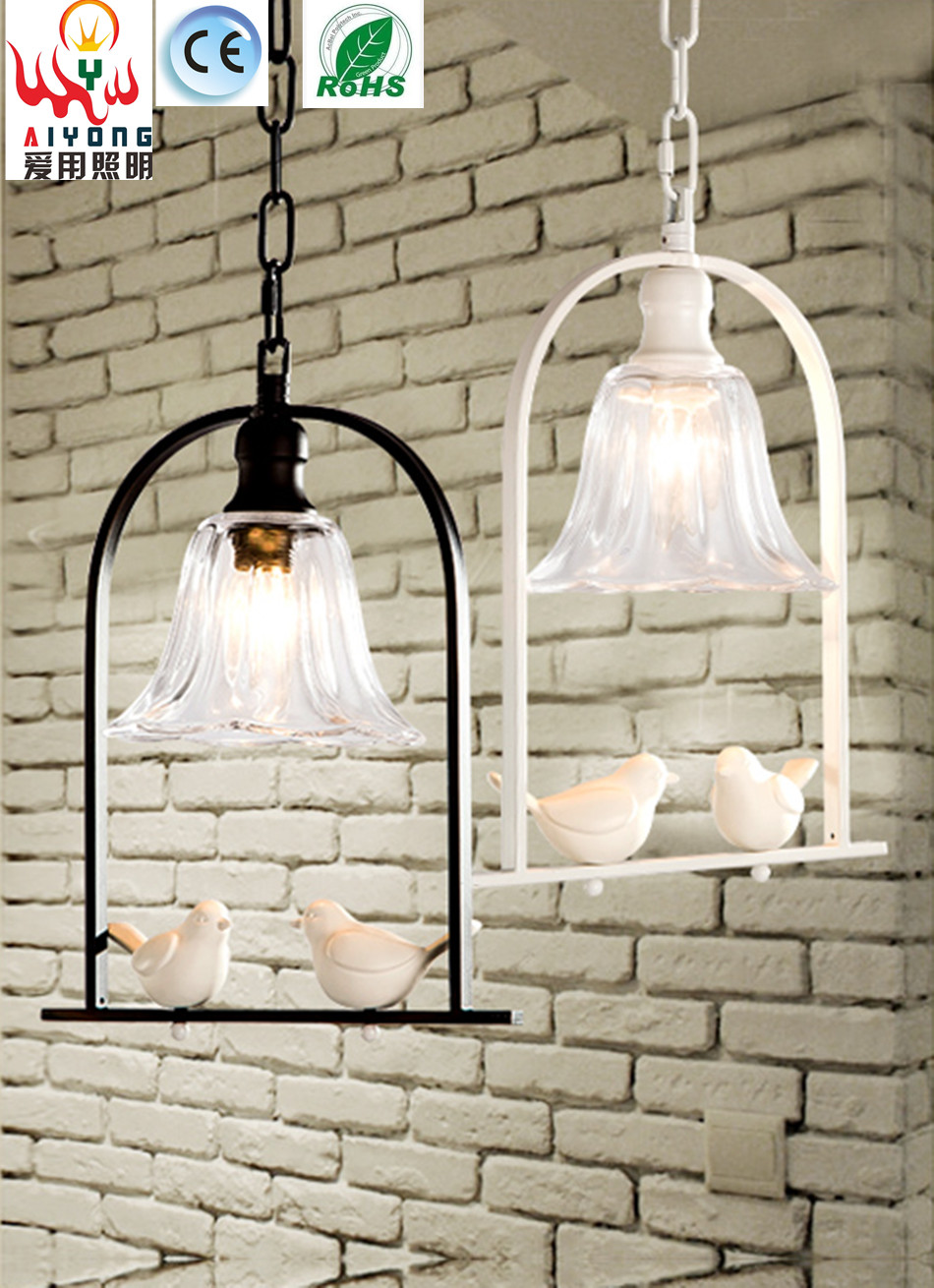Simple single-head chandelier bird creative personality LED light bar restaurant cafe corridor for lighting study creative personality resin lamps corridor restaurant cafe bar study monkey droplight of children room light