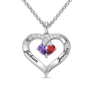 Sweey Оптовая Персонализированные Навсегда Вместе выгравированы камень ожерелье на заказ Сердце ожерелье для нее