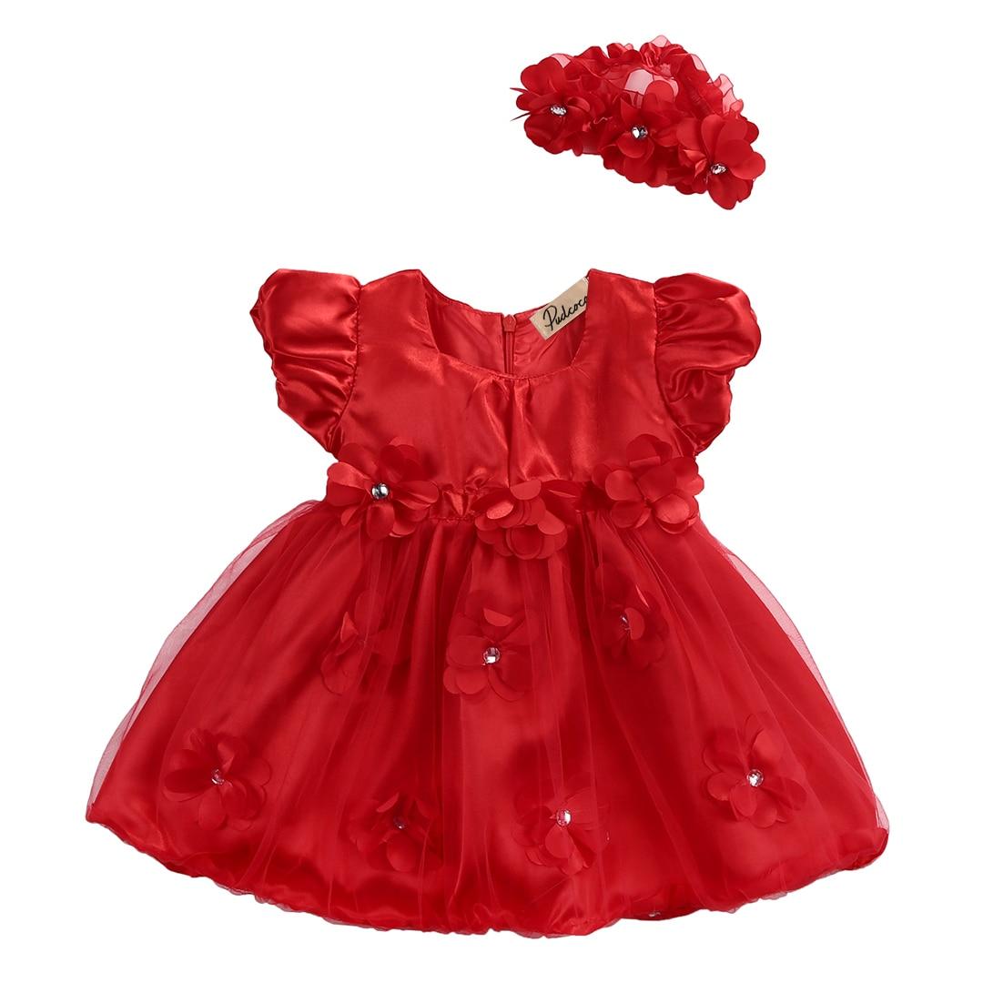 Cute Baby Toddler Girls Sleeveless Ruffle Dress Flower