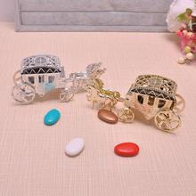 Коробка для конфет в форме каретки Милая коробка шоколадных конфет для детского дня рождения, свадебной вечеринки