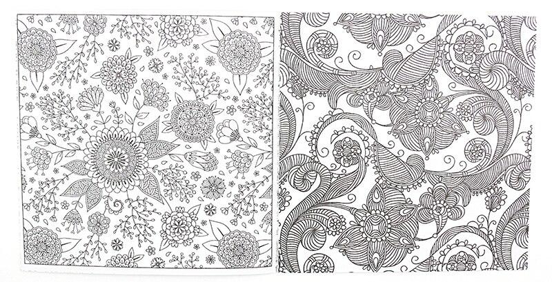 Hot Offer 8c7e 1 Pieces Nouveau 24 Pages Mandalas Fleur