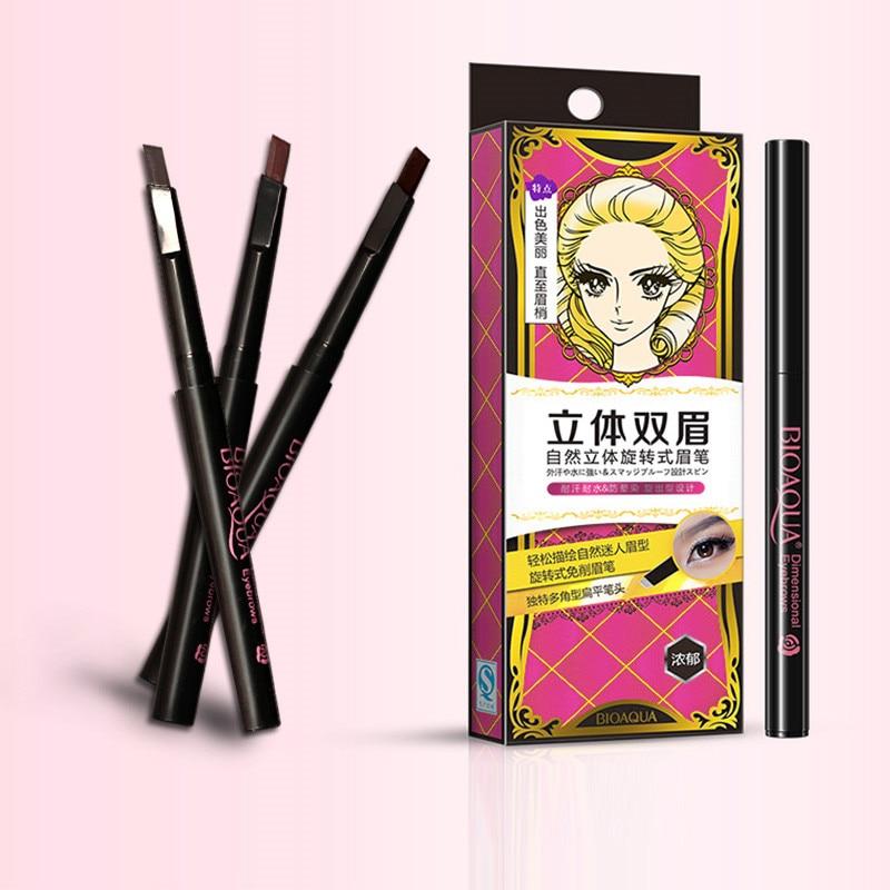 1pcs περιστρεφόμενο αδιάβροχο μολύβι φρυδιών γυναικών κυρίες μακράς διάρκειας μάτι ματιών ματιών μακιγιάζ μακιγιάζ καλλυντικών εργαλείο ομορφιάς