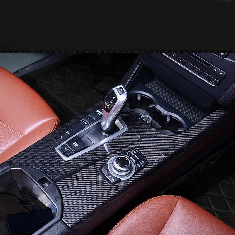 100% Carbon Fiber Interior Gear Shift Knob Boot Panel Trim