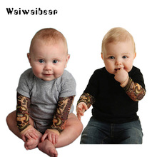 Newborn Toddler Kids Baby Boy Romper Jumpsuit Little Boys Rompers Long sleeve Tattoo Printing  Clothing Outfits