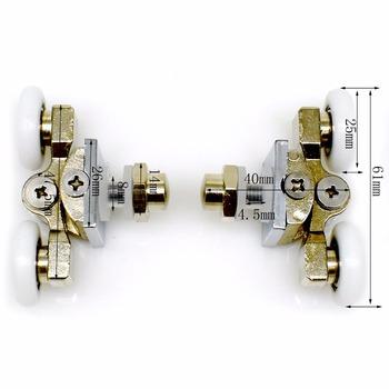 4 sztuk 23 25mm prysznic koła ze stali nierdzewnej mosiądz prysznic koła pasowe wymiana rolki drzwiowe do łazienki osprzętu sprzętu tanie i dobre opinie Prysznic ekranu 904back Ze stopu Aluminium ze stopu Aluminium Akrylowe Zawias Electroplate Clarmonde Diament typu DIAMOND