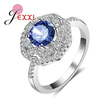 JEXXI Delicate Classic Luxury AAA CZ Ring 925 Sterling Silver Rings For Women Banquet Party & Wedding Jewelry.