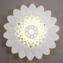 18W LED Creative Hollow Out Carved Metal Bedroom Wall Lamp Corridor Wall Sconce Romantic TV Background