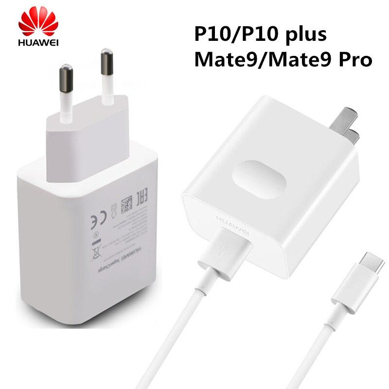 imágenes para 100% QC original 3.0 Para Huawei P10 Más Mate 9 Mate9 Pro impulsar el potencial de Rápido rápido Cargador de Viaje Adaptador 5A Tipo C 3.0 Cable de datos