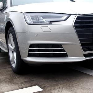 Image 1 - Free Shipping High Quality ABS Chrome Front Fog lamps cover Trim Fog lamp shade Trim For Audi A4 B9