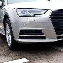 Ücretsiz Kargo Yüksek Kalite ABS Krom Ön Sis lambaları kapak Trim Sis lambası gölge Trim Için Audi A4 B9