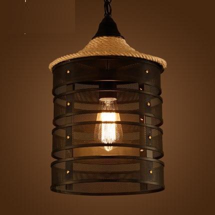 Aliexpress.com : Buy Loft Style Wire Mesh Droplight Iron Rope ...