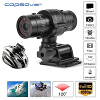 capsaver Waterproof 1080P Camera Action DVR Sports Camcorder Bike Motorcycle Helmet Video Recorder 120 Degree Wide Angle