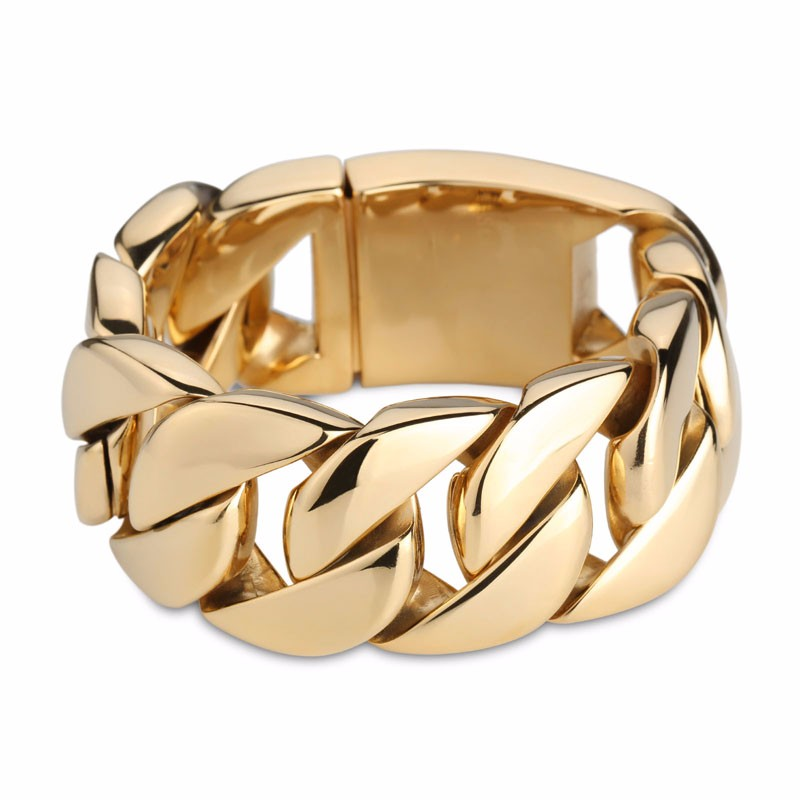 Image 2 - Kalen High Quality 316 Stainless Steel Italy Gold Bracelet Bangle Men's Heavy Chunky Link Chain Bracelet Fashion Jewelry Gifts-in Chain & Link Bracelets from Jewelry & Accessories