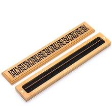 PINNY 50 Pcs Bamboo Incense Burner Natural Carving Stick Base Room Decoration Meditation Zen Sandalwood Censer