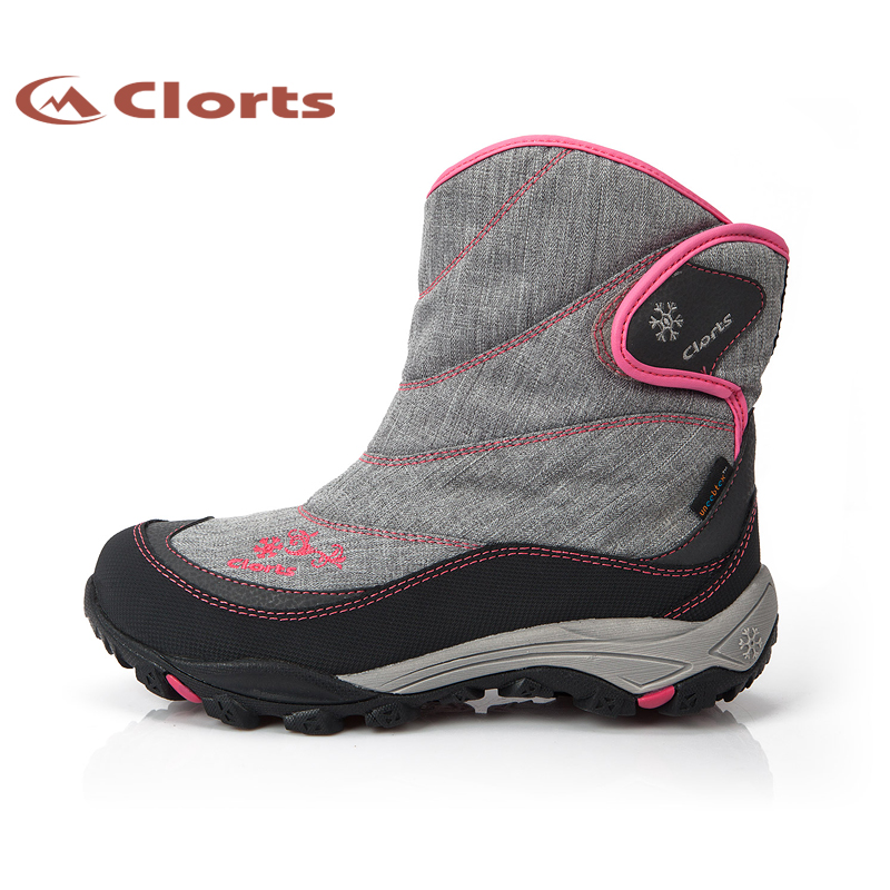 Hot Sale Clorts Women Fur Hiking Shoes Warm Wear-Resistant Ankle Boots Non-Slip Outdoor Snow Boots Winter Sport Shoes SNBT-203B