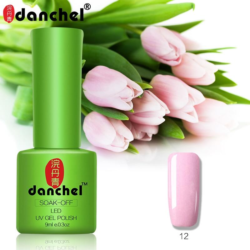 Danchel 9 мл выдерживает-гель лак для ногтей 79 Цвета Soak off Gel Топ базовый гель лак грунт для ногтей маникюрный набор Shilak