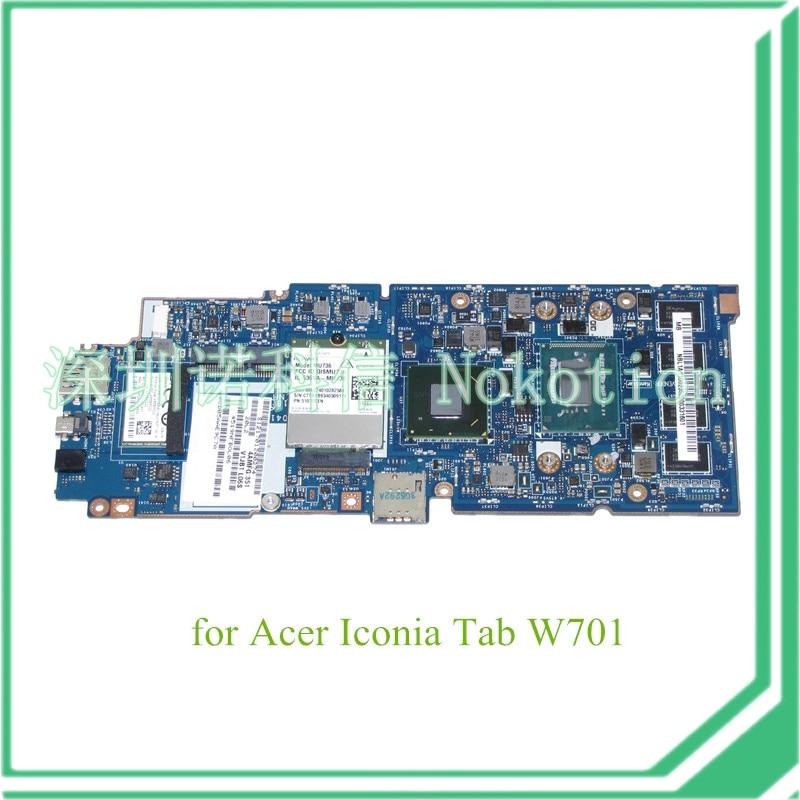 NOKOTION V1JB1 LA-A041P NBL1A11002 NB.L1A11.002 For acer Iconia Tab W701 motherboard i5-3337U монокини v i p a слитный купальник с мягкой чашкой v i p a