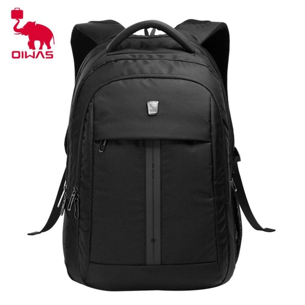 Oiwas Multifunctional Business Style Men Women Backpack Professional 15 Inch Notebook Computer Bag Schook Rucksack Black цена и фото