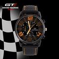 F1 Grand Touring GT Марка Мужчины Спорт Кварцевые Часы Военные Наручные часы Мода мужские Часы Груза падения