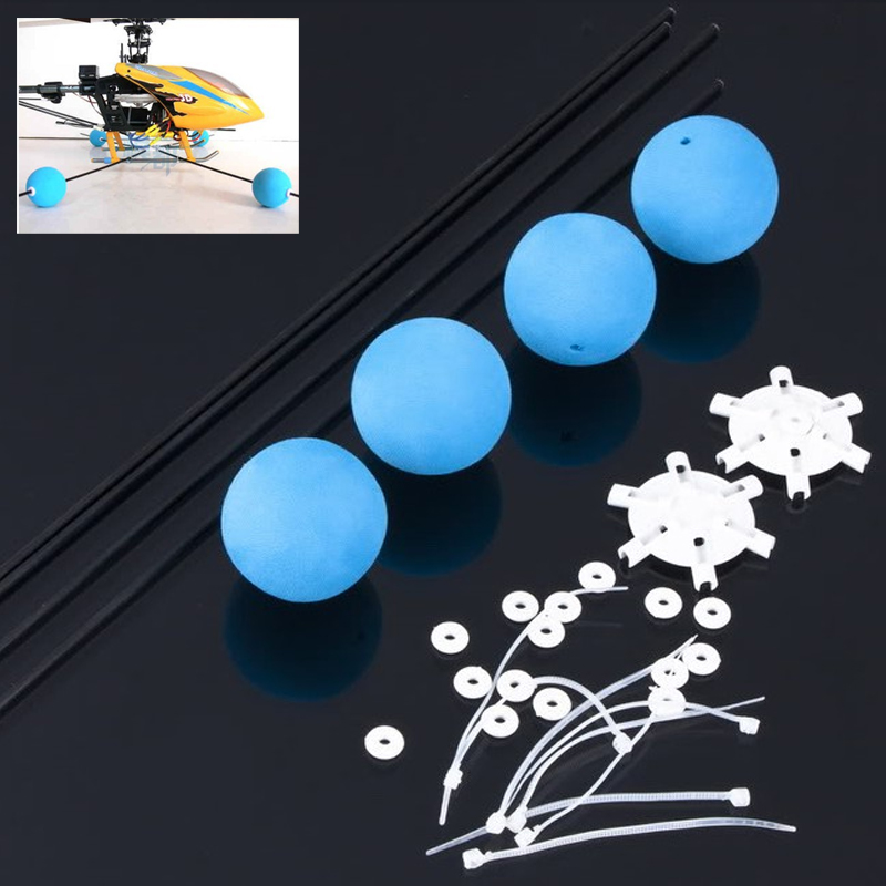 1set Landing Training Kit Gear for Blade 400 Trex 450 500 RC Helicopter Sponge Balls цена