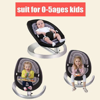 Baby Rocking Chair with Toy Rack and Double Seat Cushion, Toddlers Recliner chair, Infant Swing Cradle, Baby Rocker Chair 1