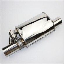 """2.5 """"Sistema de Escape Em Aço Inoxidável Válvula de Escape Recorte Elétrica Com Interruptor de Controle Remoto Eletrônico tubo de escape Silenciador"""