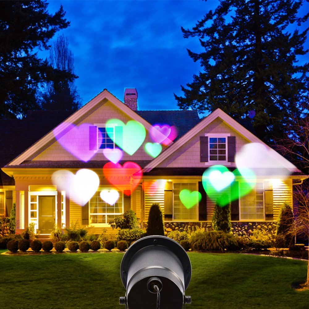 ФОТО Valentine's Day Halloween Christmas Landscape Projector Lamp Rotating 12 pattern Waterproof outdoor&indoor LED Laser Light