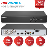 ANNKE 8CH 3MP 5in1 HD TVI CVI AHD Security DVR Recorder H 264 Digital Video Recorder