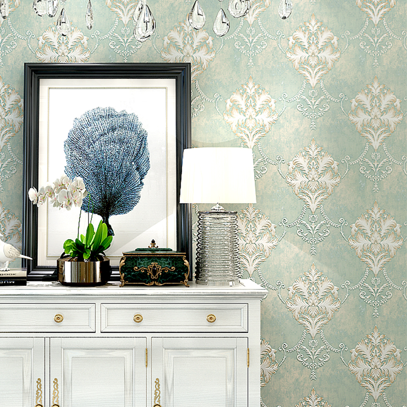 Luxury 3D Floral Background Wallpapers European 3D Embossed Non Woven Wall Paper for Living Room Bedroom Floral Wallpaper Roll fashion 3d wallpaper for walls non woven wallpapers floral for bedroom living room wall paper roll modern 3d paper contact