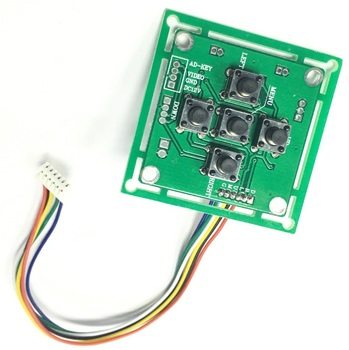 Diske OSD Video menú Board 6 pines para Módulo de placa de cámara CCTV AHD cámara analógica OSD menú-tablero