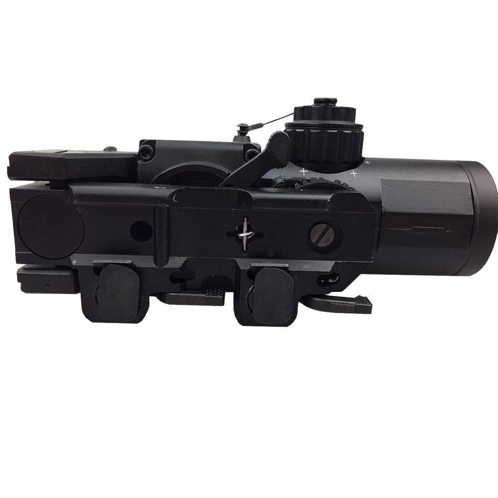 Portée de fusil optique à double rôle fixe tactique 1x-4x/portée Airsoft/portée magnifique adaptée au Rail de 20mm Weaver Picatinny pour la chasse