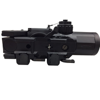 Tactical 1x 4x Fixed Dual Role Optic Rifle Scope/ Airsoft Scope/ Magnificate Scope Fit 20mm Weaver Picatinny Rail For Hunting