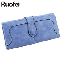 New Arrive 2017 Fashion Retro Matte Stitching Wallet RUO FEI Women Long Purse Clutch Women Casual