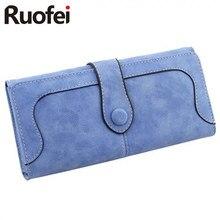 New Arrive 2017 Fashion Retro Matte Stitching Wallet RUO FEI Women Long Purse Clutch Women Casual  Dollar Price Wallet Handbag