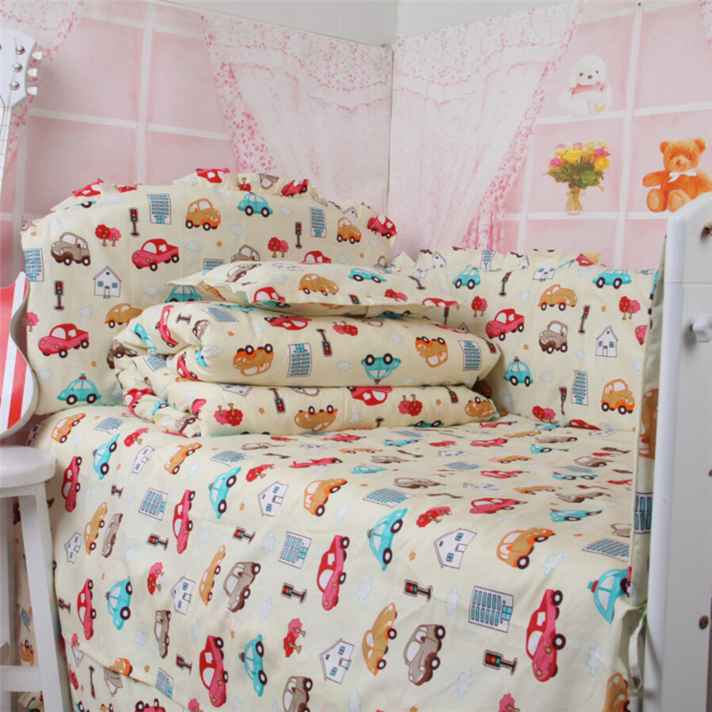 Pink baby bedding Cot bedding.Newborn bed set. 100% cotton sets cot bumper Crib Bedding - Lovely Kingdom store