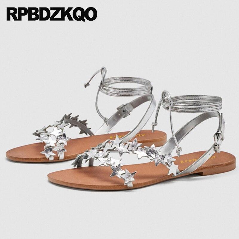 Designer Flat Sequin Shoes Open Toe