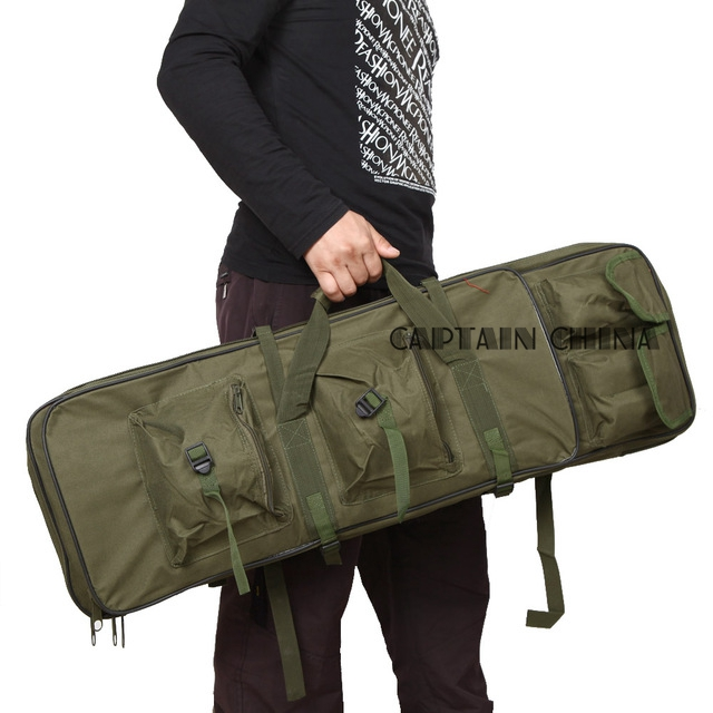 цена на Rifle Case Gun Bag with Shoulder Strap Airsoft Hunting Paintball Combat Backpack