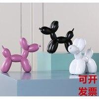 resin creative Balloon dog statue cute Balloon dog home decor craft room decoration resin animal figurines doll for Wedding Gift