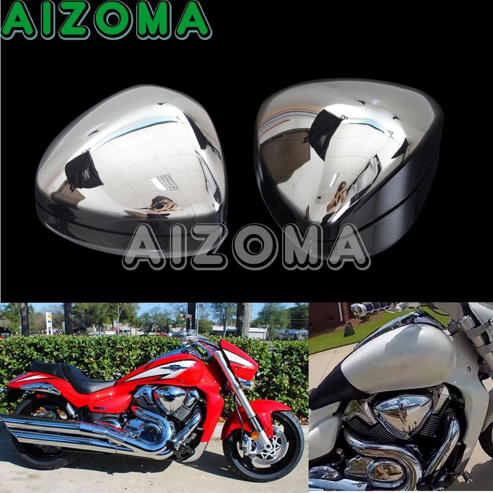 Intake Air Cleaner Filfer Cover For Suzuki Boulevard M109 M109R VZR1800 Chrome
