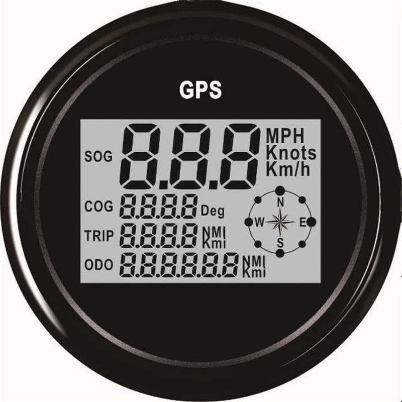 1pc Automobile Tuning Gauges 85mm Digital GPS Speedometers Odometers Motorcycle Tuning Meters 9-32v with Backlight 1pc brand new auto tuning gauges 85mm gps speedometers 0 200km h lcd speed indicators with red backlight and antenna for sale