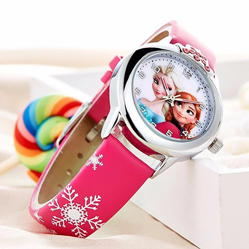 Animated Film Frozen Girls Elsa Princess Ann Cartoon Quartz Watch Crystal Diamond Dial Clocks Christmas Gifts for Girls Children цена