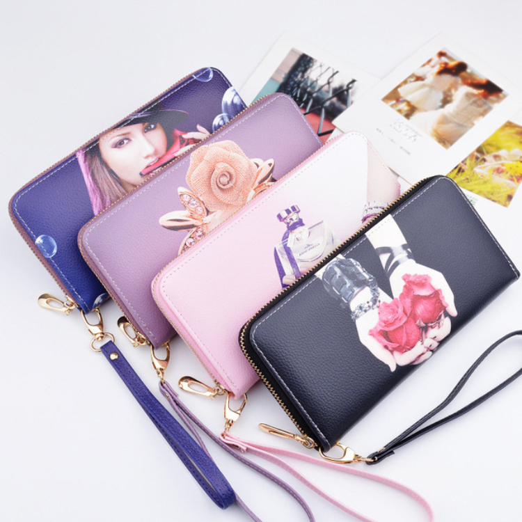 Vintage quality Leather Long Fashion Women Wallets Designer Brand Clutch Purse Lady Party Wallet Female Card Holder цена