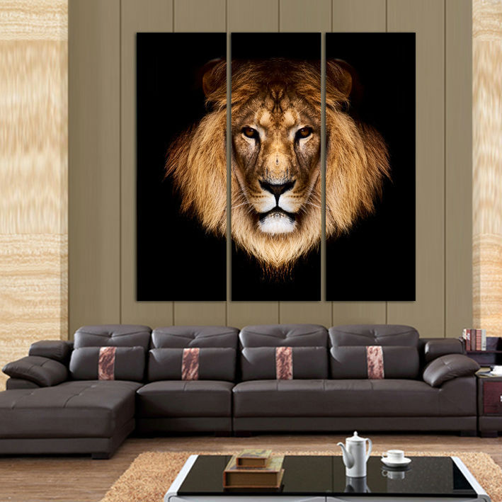 3 Piece Beautiful Art Lion Picture Modern Animal Wall Painting Home Room  Gallery Decor Art HD Printed Canvas Poster Unframed In Painting U0026  Calligraphy From ...